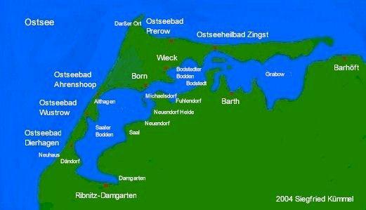 Fischland Darß Zingst Karte.Freizeitangebote Touren Informationen Im Web Von Fidazi